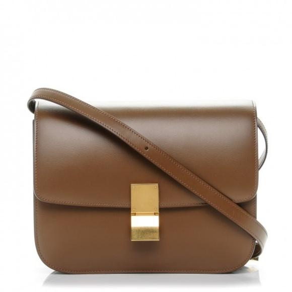 b9ea3ead2e00 Celine Handbags - Authentic Celine Box Bag Tan Caramel Medium